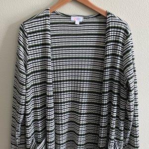 Lularoe Sarah Duster, Ribbed Stripes, Size L